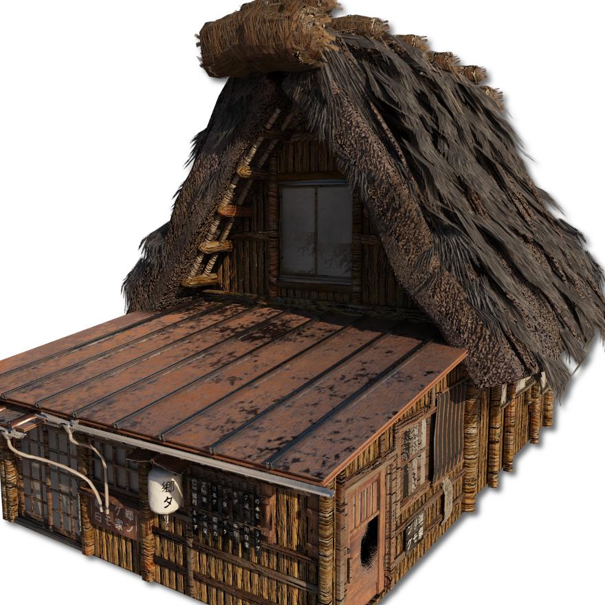 Shirakawago_Village_Set_House_3_and_4_4