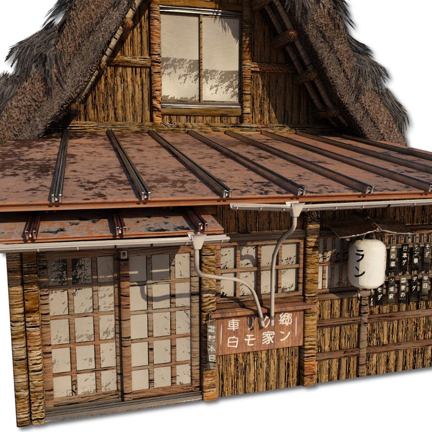 Shirakawago_Village_Set_House_3_and_4_5